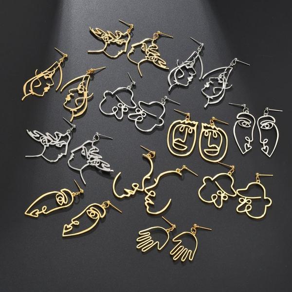 Dangle Earring, Jewelry, vintage earrings, Stud Earring