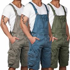 jumpsuitsformen, Shorts, mensdungaree, pants