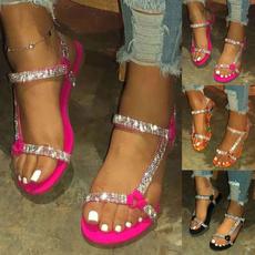 beach shoes, Plus Size, Sandals & Flip Flops, flatsandal