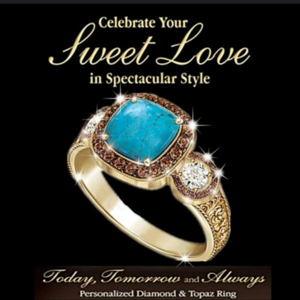 Men Jewelry, ringsformen, Turquoise, DIAMOND