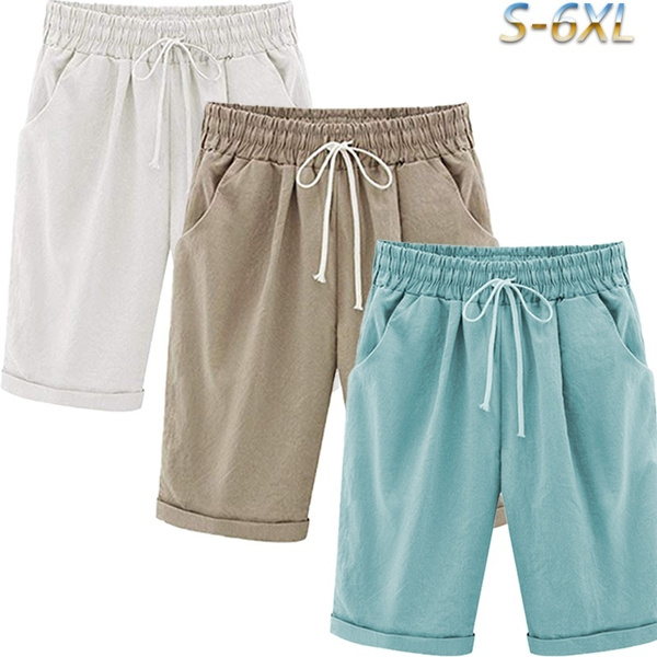 Shorts, Waist, Elastic, highwaistbermudashort