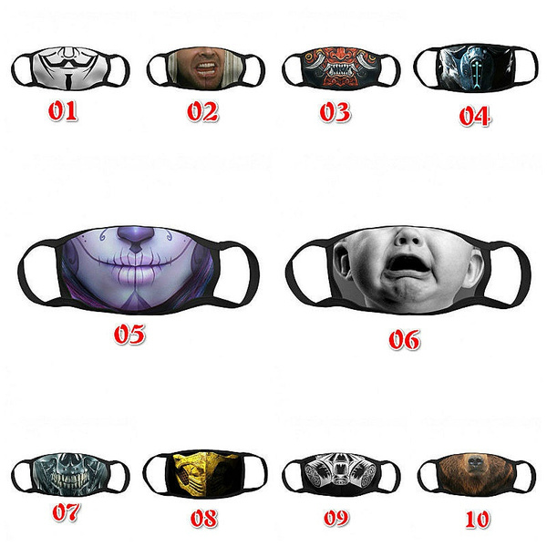 cartoonmask, Cotton, dustmask, Funny