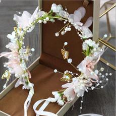 flowercrystalheadband, hair jewelry, Head Bands, pearls