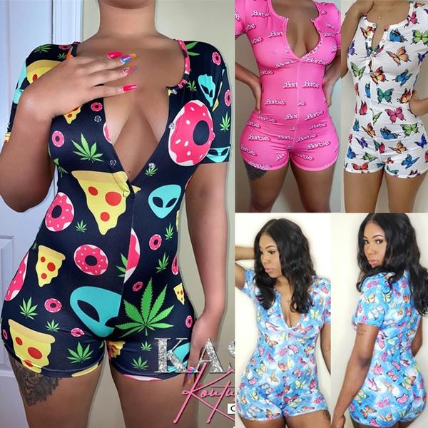 longsleeveromper, women's pajamas, Long Sleeve, Home