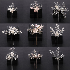 Women, Flowers, hair jewelry, Wedding Accessories