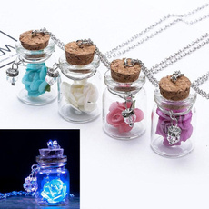 Mini, luminousnecklace, Flowers, Jewelry