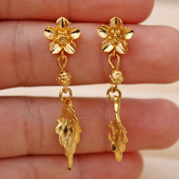 leafstudearring, Jewelry Accessory, Ladies Fashion, gold