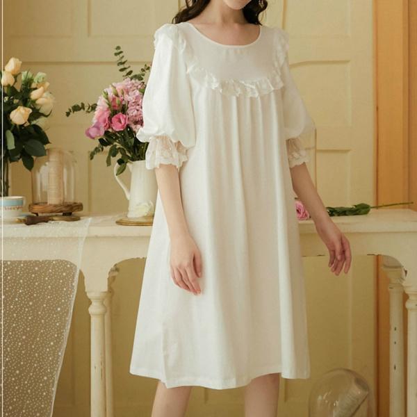 Summer, Lace, Dress, girlsleepwear