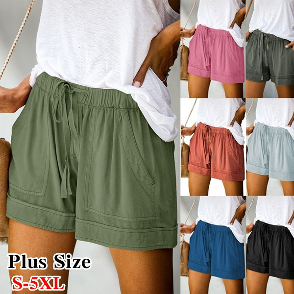 Summer, Shorts, pants, Loose