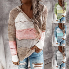 stitchingcolorsweater, Fashion, Sleeve, Spring