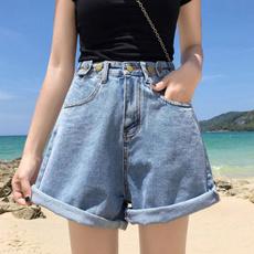 Summer, Shorts, high waist, loosed