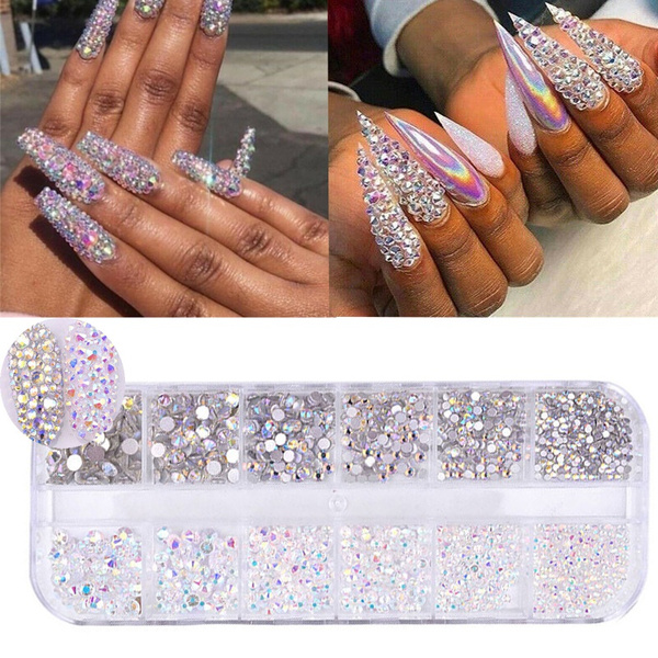 Box, Nails, nail stickers, nail tips