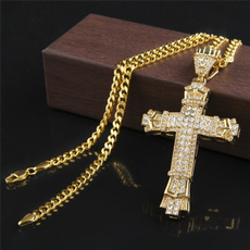 Steel, Chain Necklace, Fashion, Cross Pendant