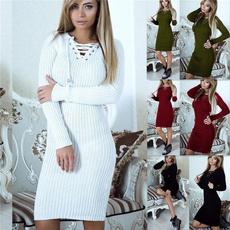 slim dress, Fashion, Lace, Sleeve