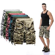 Summer, Shorts, multipocketjean, Casual pants