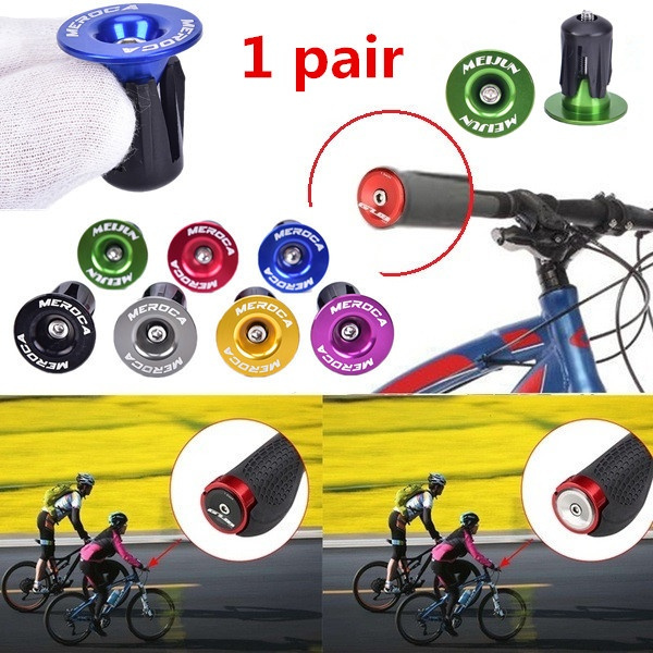 Free-fly 1 Pairs Aluminum Bicycle Handlebar End Plugs for Most Bicycle Road Bike Mountain Bike BMX MTB
