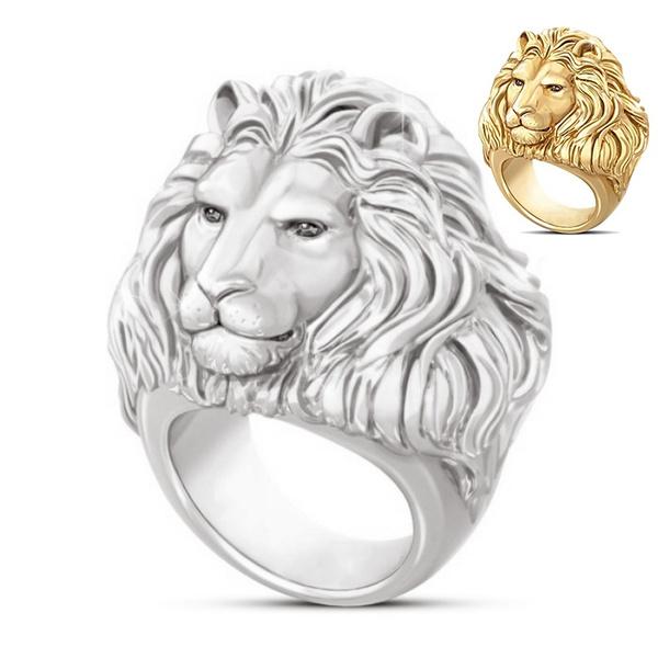 lionring, King, Head, Fashion