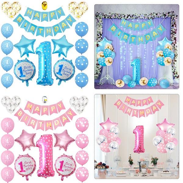 1stbirthdayboydecoration, Star, birthdayballoon, happybirthdaybanner