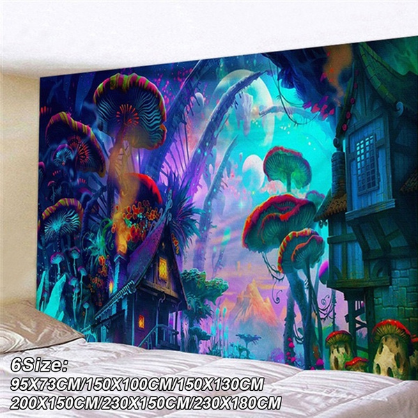 art, Home Decor, Mushroom, bedroom