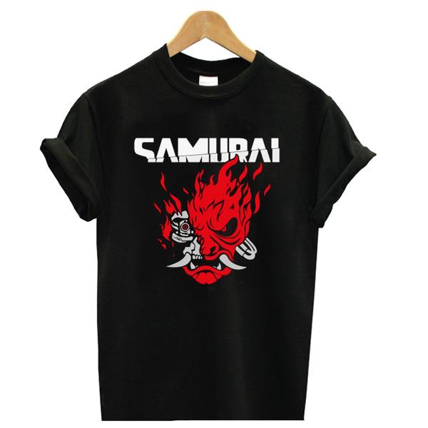 Summer, Fashion, Cotton T Shirt, Samurai