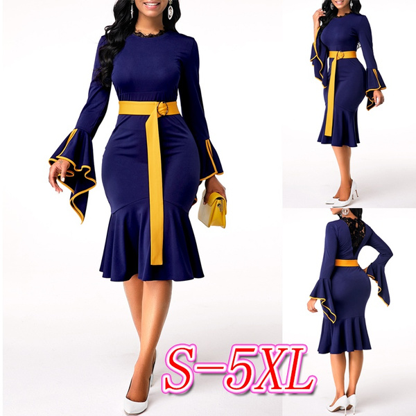 Sleeve, solidcolordres, highwaistdres, plus size dress