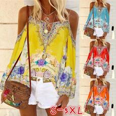 Summer, Plus Size, Women Blouse, Long Sleeve