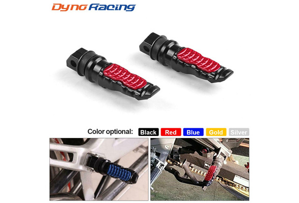 Pair Of Universal Motorcycle Folding Pillion Footrests Foot Pegs Rear Foot Peg Pedal 12MM Thread Aluminum Left /& Right