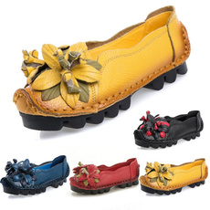 casual shoes, Flats, Flowers, Classical