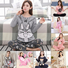 cutepajamaslongsleeved, women's pajamas, cartoonlongsleevedpajama, Sleeve