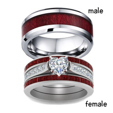Couple Rings, Sterling, heart ring, wedding ring