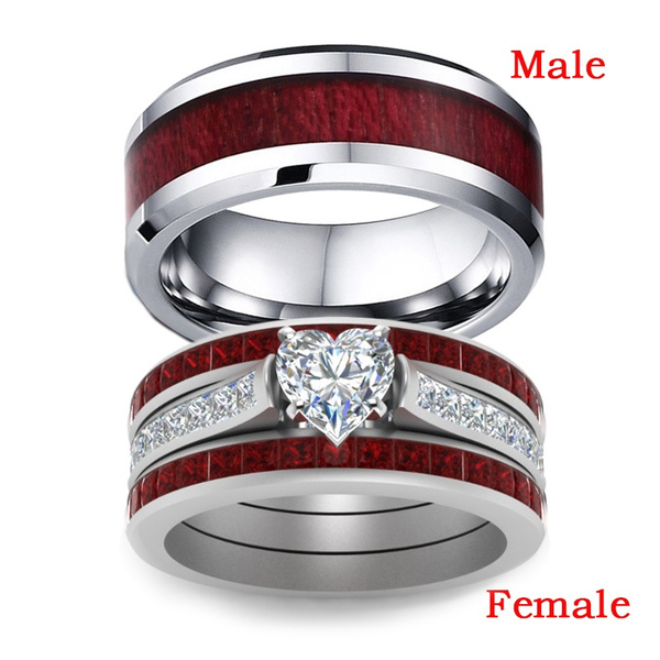 Couple Rings, Sterling, Stainless Steel, wedding ring