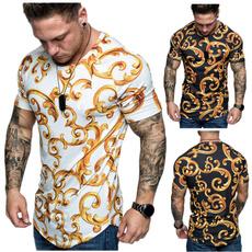 Summer, Round neck, Cotton T Shirt, Fitness