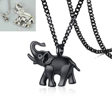 Steel, elephantnecklace, punk necklace, Jewelry