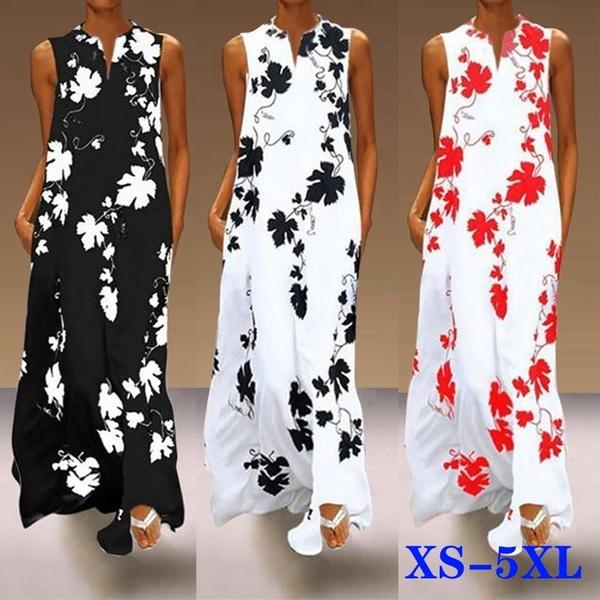 Summer, Plus Size, Dress, Loose