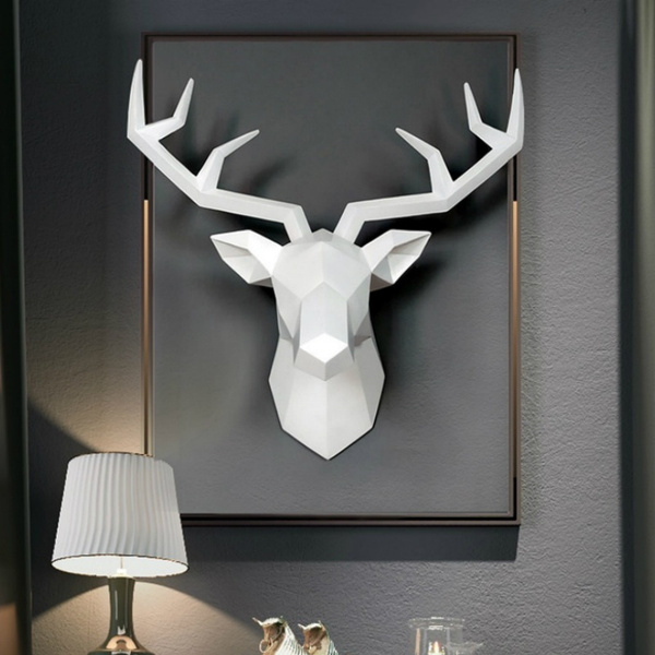 Home & Kitchen, antelope, deerhead, Home Decor