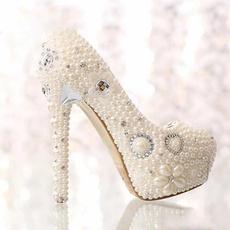 Crystal, Womens Shoes, Waterproof, Bride
