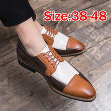 brown, Plus Size, leather shoes, casual leather shoes