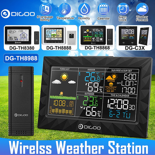 wirelessweatherforecaststation, weather forecast, wirelesstemperaturesensor, Indoor