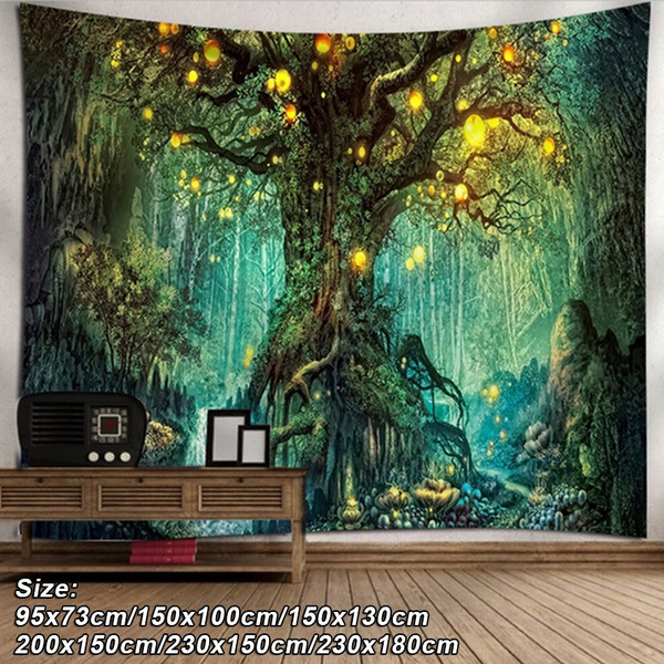 Plants, foresttapestry, art, Home Decor