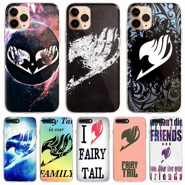Japan Anime Fairy Tail Phone Case Cover for IPhone 5 5S SE 5C 6 6s 7 8 Plus XS XR XS 11 Pro Max X Coque for Samsung Galaxy S10 Plus S10E S8 S9 10 Plus ...