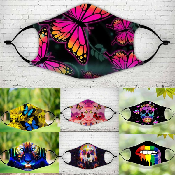 butterfly, Fashion, mouthmask, unisex