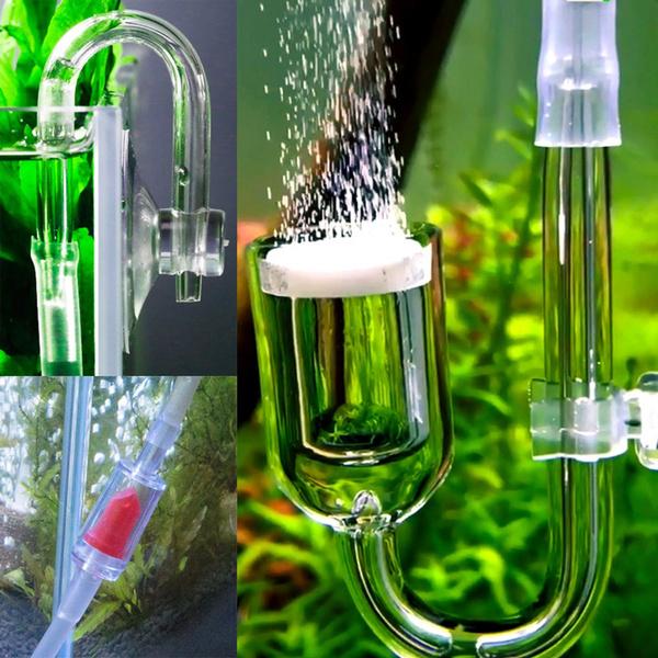 aquariumtube, carbondioxide, reactor, bubblecounter