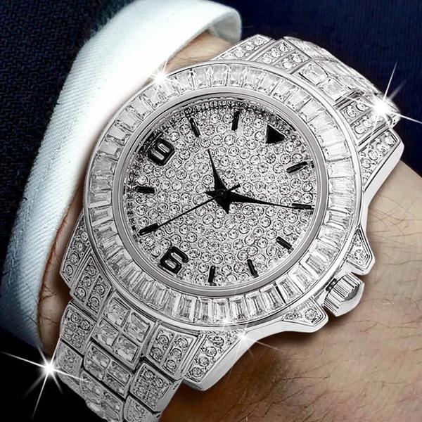 Fashion, relojparahombre, diamondwatche, Stainless Steel