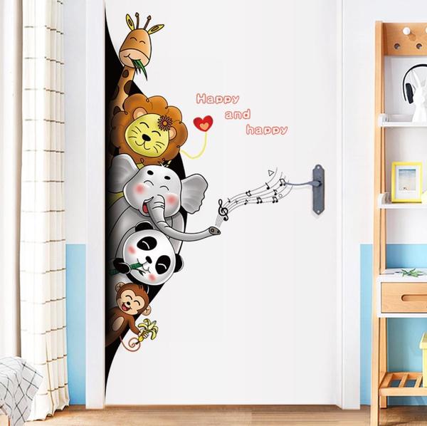 kids, Door, diywallsticker, Stickers
