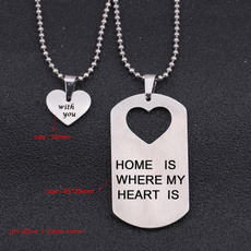 Steel, Heart, Set, Jewelry