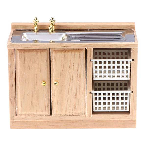 cupboard, Wooden, Dollhouse, Cabinets