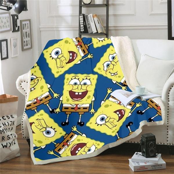 Fleece, fleecethrowblanket, Sponge Bob, blanketforbed