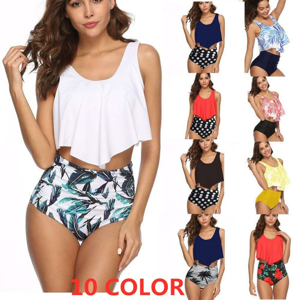 Summer, Plus Size, ruffle, floralswimsuit
