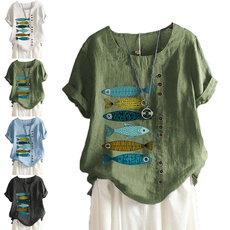 blouse, linenblouse, Fashion, Tops & Blouses
