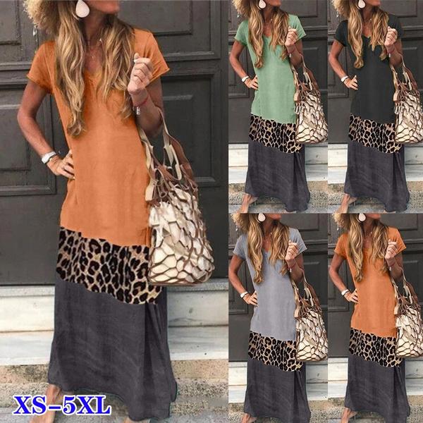 bohemia, Summer, short sleeve dress, Necks
